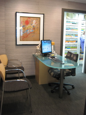 Office photo of consultation area