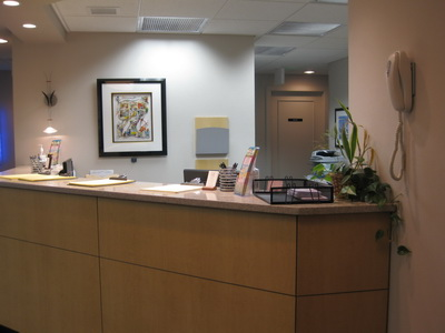 Office photo of reception desk